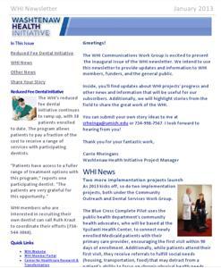 January 2013 WHI Newsletter